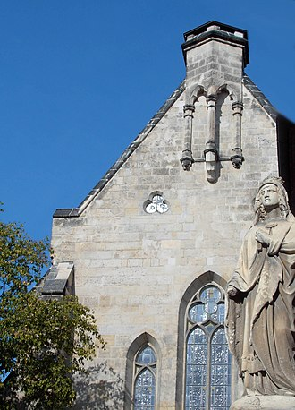 Matilda of Ringelheim - Statue of St. Matilda in Quedlinburg