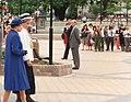 Queen Elizabeth and Vicki Buck in Victoria Square Christchurch.jpg