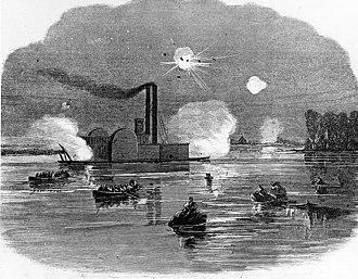 USS Queen of the West (1854) - Image: Queen of the West Capture