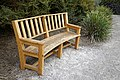 RHS Garden Hyde Hall, Essex, England - memorial bench.jpg