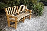 RHS Garden Hyde Hall, Essex, England - memorial bench.jpg