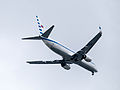ROCAF Boeing 737-800 3701 on Final Approaching at Songshan Air Force Base 20150131a.jpg
