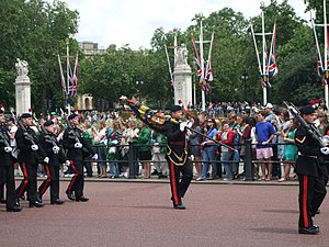 English: Royal Regiment of Fusiliers performin...