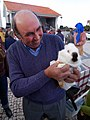 Rabbit sold in a fundraising auction for the church. Bajouca, Portugal (399229191).jpg