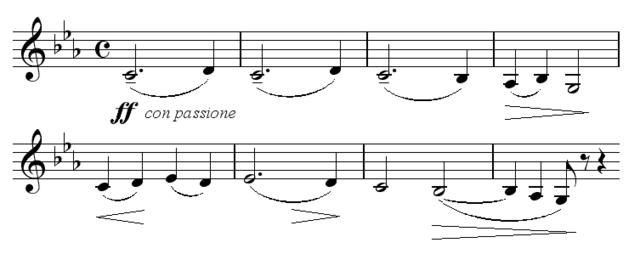 Тема первой части второго концерта