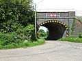 Railway Bridge from the road to Rubbery Farm - geograph.org.uk - 442140.jpg