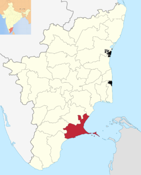Localisation de District de Ramanathapuram