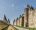 Ramparts of the historic fortified city of Carcassone 14.jpg