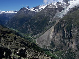 Mettelhorn Mountain of the Swiss Pennine Alps