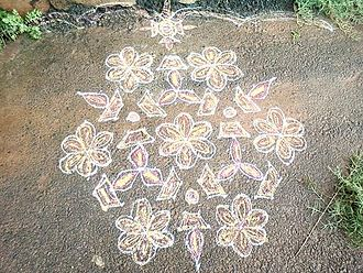 Luck - A Rangoli design.