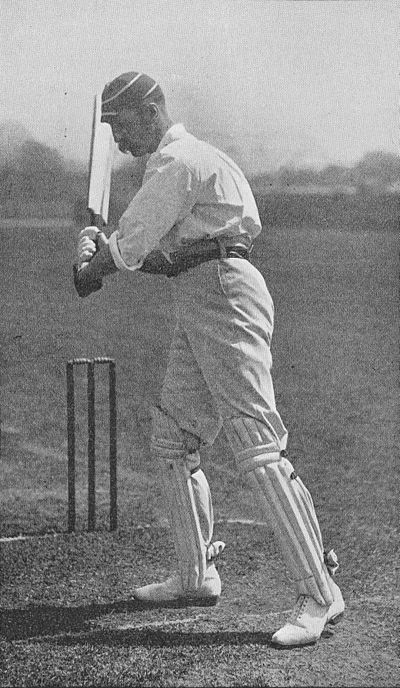 Ranji 1897 page 403 A. Ward in the attitude to cut.jpg