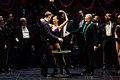 Raphaëlle Delaunay, Edgaras Montvidas et Tassis Christoyannis, dans la production de l'Opéra Comique, en 2017.jpg