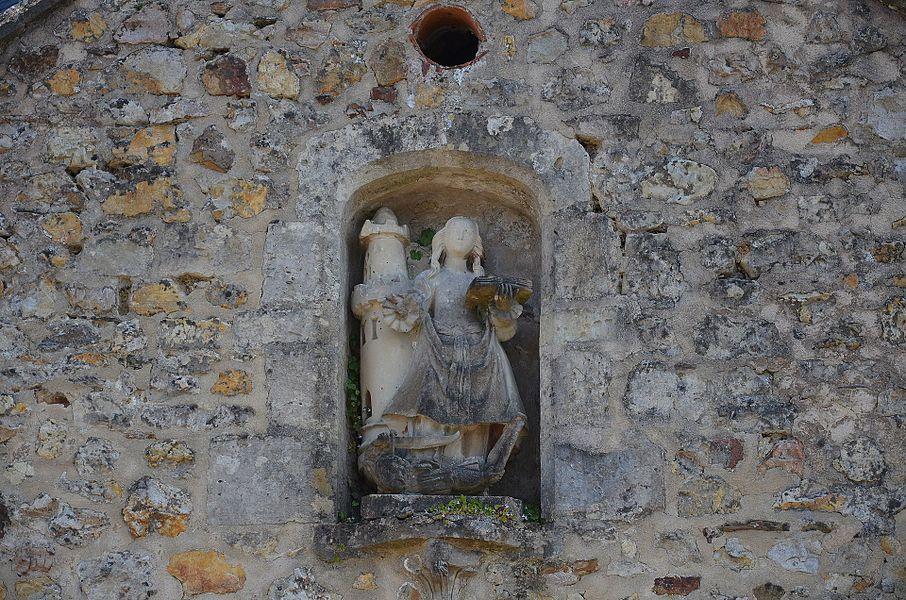 Détail de l'église Notre-Dame de Rauville-la-Bigot.