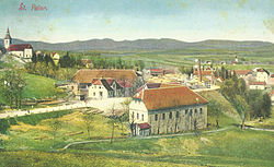 1914 postcard of Pivka