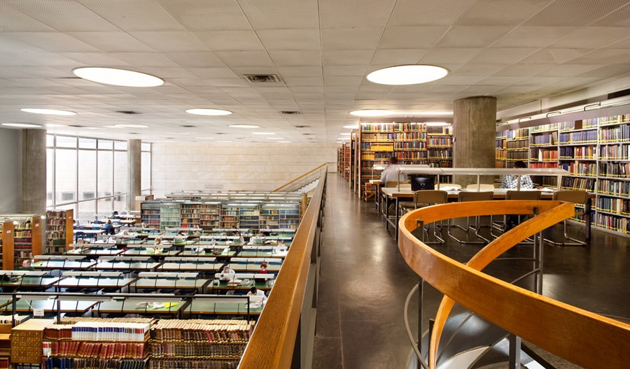 Reading room of the National Library of Israel 2
