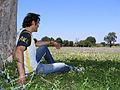 Relaxando no parque.JPG