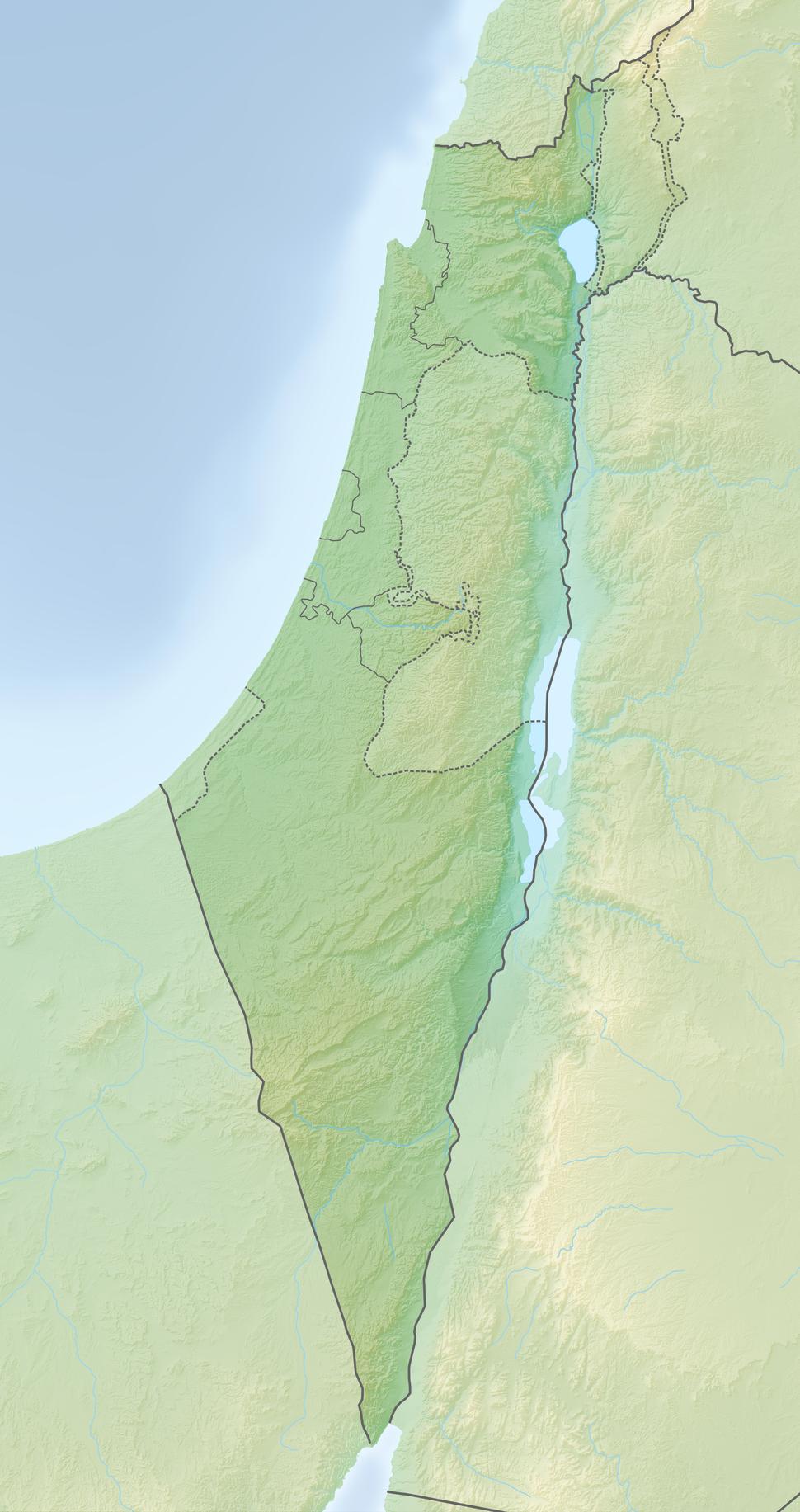 Reliefkarte Israel