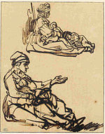 Rembrandt Two Studies of a Woman Seated on the Ground.jpg