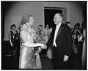 René Doynel de Saint-Quentin - The Ambassador at a reception in Washington.
