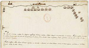 Carnatic Wars - Image: Représentations des positions des escadres des navires français et anglais devant Pondichéry (sud–est de l'Inde) Archives Nationales MAR B 4 77 fol 277 (1)