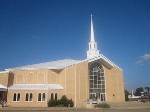 Magnolia, Arkansas - Image: Revised photo of First Baptist Church of Magnolia, AR IMG 2324