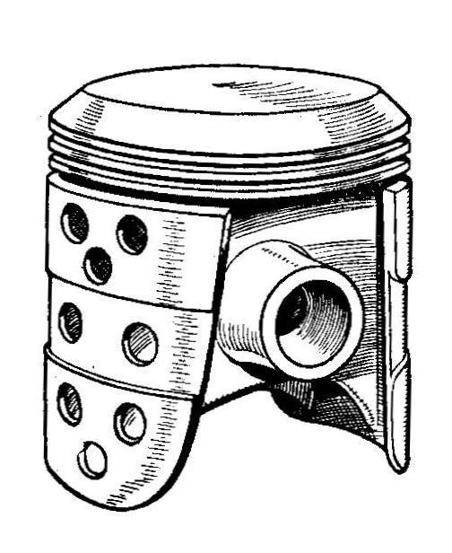 Ricardo slipper piston (Autocar Handbook, 13th ed, 1935)