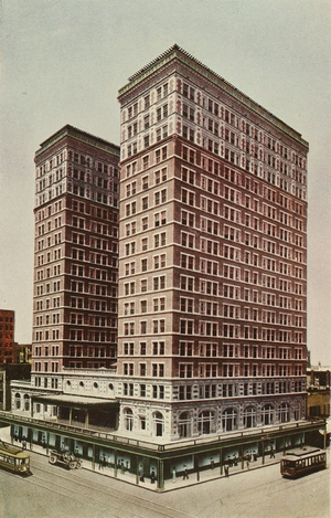 Rice Lofts - Rice Hotel in a 1913 illustration