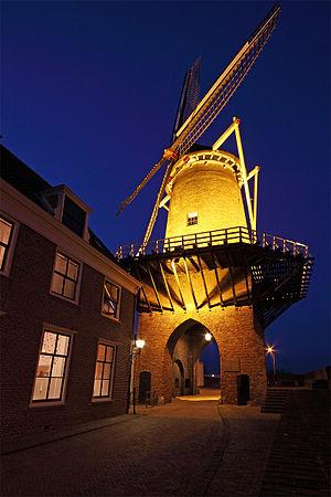 Windmill at Wijk bij Duurstede - Image: Rijn en Lek Wijk bij Duurstede