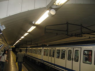 Ríos Rosas (Madrid Metro) - Image: Rios Rosas Anden