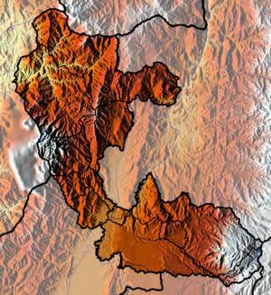 Risaralda Department - Image: Risaralda Topographic 2