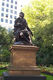 Statue of Burns in London