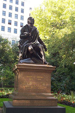 Памятник поэту в Лондоне