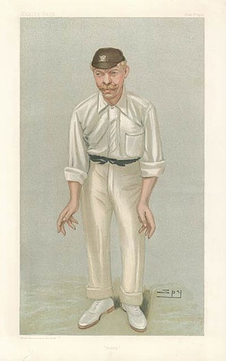 "Bobby Abel - ""Bobby"" Abel as caricatured by Spy (Leslie Ward) in Vanity Fair, June 1902"