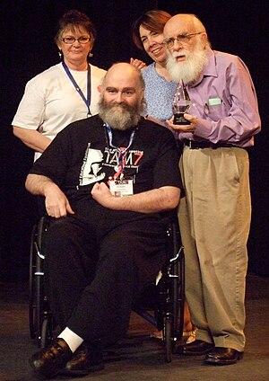 Robert S. Lancaster - Lancaster with James Randi receiving the Citizen Skeptic Award, July 11, 2009.