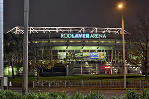 2005 World Artistic Gymnastics Championships - Image: Rod laver arena by night