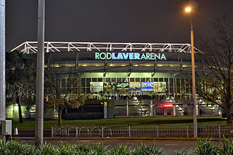 Rod Laver Arena - Image: Rod laver arena by night