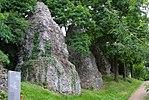 Überreste der Fundamente des Aquädukts von Mainz