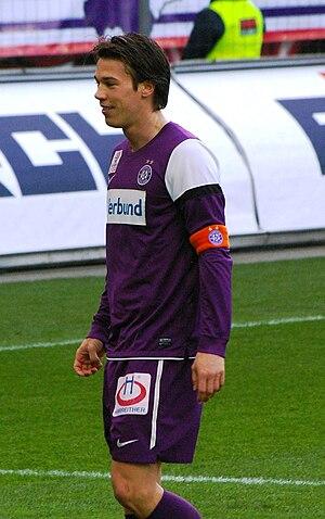 Roland Linz - Linz playing with Austria Wien in 2011