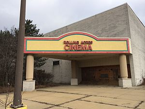 Rolling Acres Mall - Rolling Acres Cinema building as it appeared in January 2014