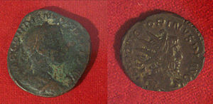 History of Morocco - Roman coins excavated in Essaouira, 3rd century.