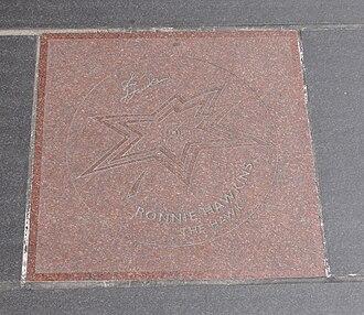 Ronnie Hawkins - Ronnie Hawkins's star on Canada's Walk of Fame