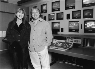 GOD TV - Rory and Wendy Alec in GOD TV's first transmission suite in Newcastle, England.