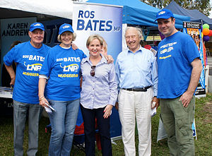 Ros Bates - Bates with supporters at the 2012 Mudgeeraba Show.