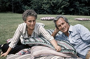 Ottavio Missoni - Rosita Jelmini and Ottavio Missoni in 1975