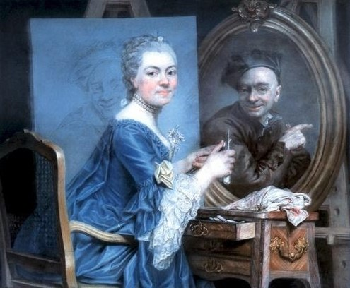 Roslin, Marie-Suzanne - Selfportrait - c. 1775