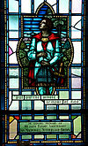 Royal Military College of Canada memorial window to Ian Sutherland Brown Sir Lancelot whole armour of God.jpg