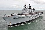 Royal Navy Aircraft Carrier HMS Illustrious Returns To Portsmouth Folllowing Refit MOD 45152941.jpg