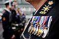 Royal Navy Sailor Wearing Medals at a Parade MOD 45156275.jpg