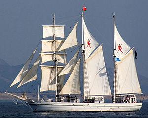 Royal Navy of Oman - The RNO's sail trining ship Shebab Oman