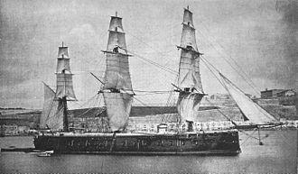 Prince Consort-class ironclad - Image: Royal Oak (1862) 2